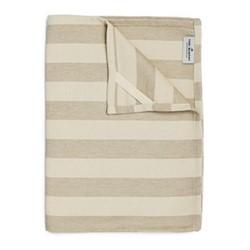 Fastnet Stripe Tea towel, 50 x 70cm, mushroom