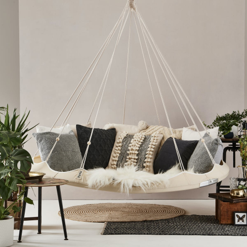 Nomad TiiPii bed, 150 x 150 x 178cm, Charcoal