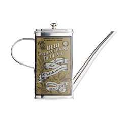 Italian Stainless steel oil can drizzler, 500ml
