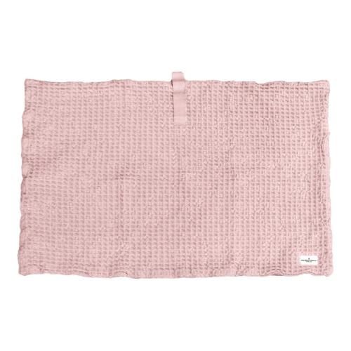 Waffle Bath mat, 80 x 55cm, Pale Rose