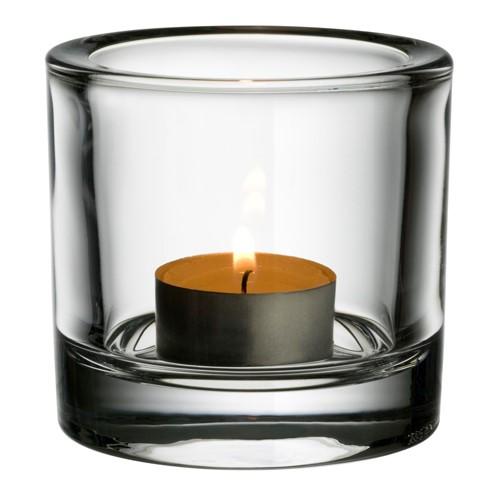 Kivi Votive candleholder, 6cm, clear
