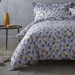 Brushstrokes Super king size duvet cover and pillowcase set, 220 x 260cm, grey