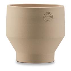 Edge Indoor pot, Dia15 x H15cm, Sierra Yellow