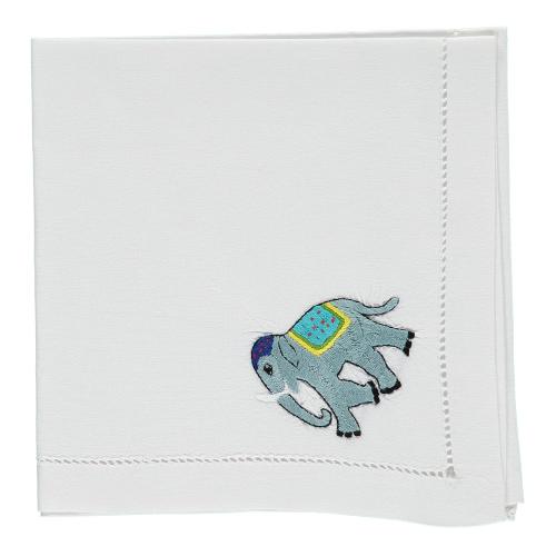 Elephant Set of 4 napkins, 45 x 45cm, Cotton