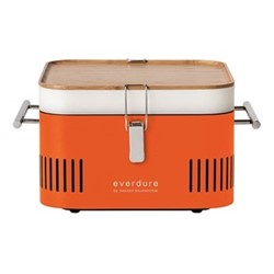 Cube Charcoal portable barbeque, H23 x D35 x W43cm, orange