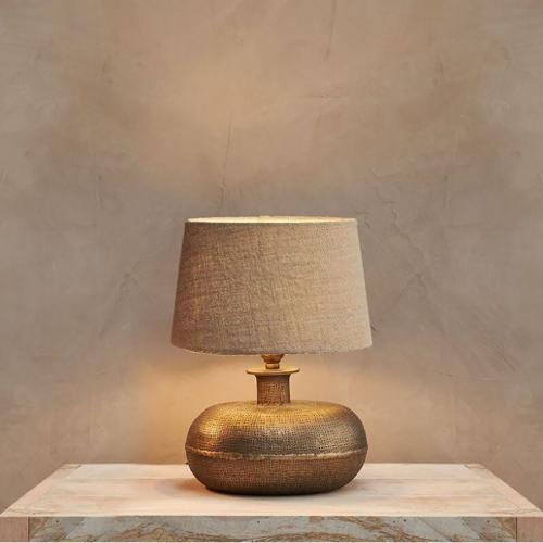 Lumbu Lamp Small, H25 x W28 x D24cm, Metallic