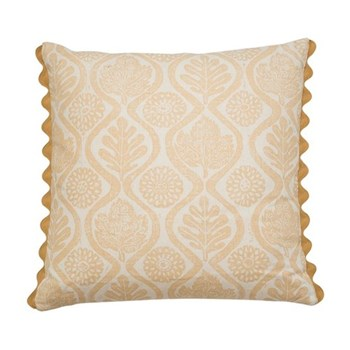Oakleaves Cushion, 50 x 50cm, yellow