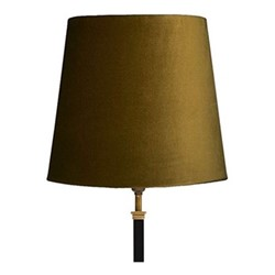 Tall tapered lampshade, 30cm, forest green