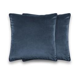 Julius Pair of cushions, 45 x 45cm, Ink Blue