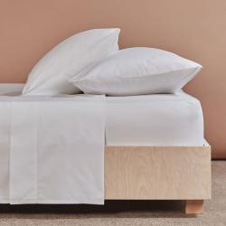 Crisp & Cool Organic - 400 TC King size flat sheet, W275 x L275cm, White