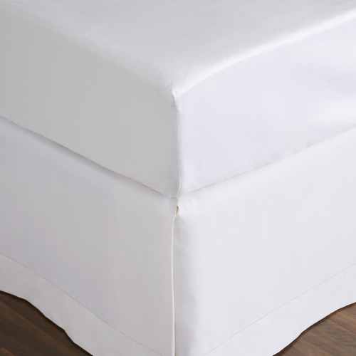 1000TC Cotton Sateen King size fitted sheet, 152 x 203cm, Snow