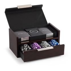 Sutton Poker set, 21 x 11cm, carbon fiber