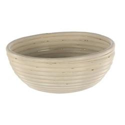 Round dough proving basket, 25 x 8cm - 1kg, natural cane