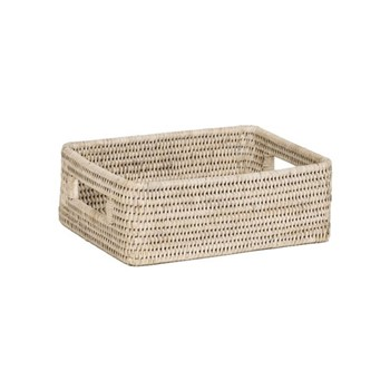 Ashcroft Small box tray, L27 x D21 x H9cm, rattan