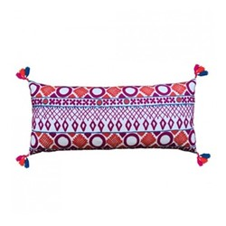 Picado Embroidered cushion, L80 x W36cm, pink/orange