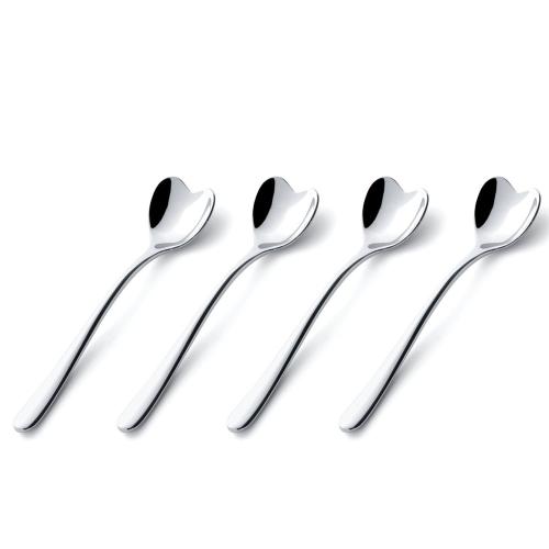 Big Love by Miriam Mirri Set of 4 coffee/sugar spoons, Stainless Steel