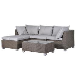 Hartwell Outdoor living set, sofa - 87 x 242 x 158cm / table - 38 x 100 x 59cm