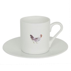 Chicken Espresso cup and saucer, 11cl