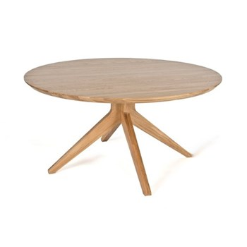 Cross Round oak dining table, H75 x W150 x D150cm, oak