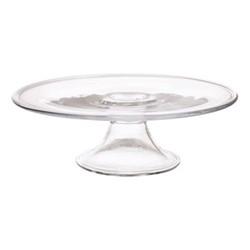 Delilah Cake plate, D28cm, clear