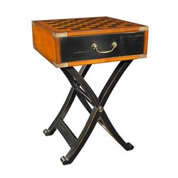 Grandmaster's Box Occasional table, H66 x W45 x L45cm, black distressed cherry/pine