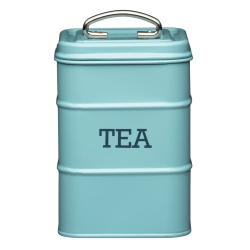 Living Nostalgia Tea canister, 11 x 17cm, Blue Enamelled Steel