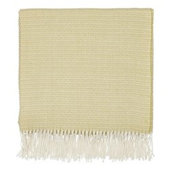 Coraline Woven throw, L130 x W170cm, chartreuse