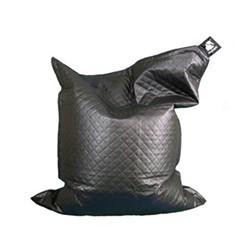 Junior - Quilted Beanbag, 140 x 110cm, urban black