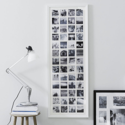 Year in Memories Photograph frame - 52 aperture, H133.5 x W48cm, White