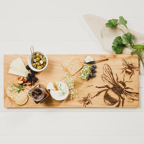 Bee Large serving board, L60 x W25cm, Oak