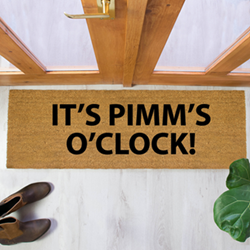 Pimm's O'Clock Patio Doormat, 120 x 40cm