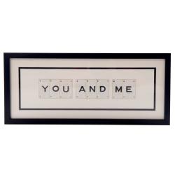 YOU AND ME Medium frame, 51 x 20cm
