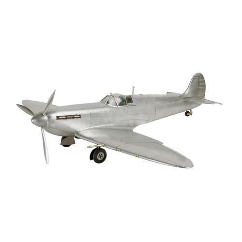 Spitfire Model aircraft, H17 x W75.5 x L60.5cm, Polished Aluminum