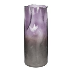Large melted vase, purple ombre