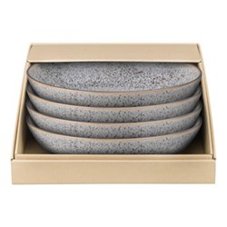 Studio Grey Set of 4 pasta bowls, 22 x 5cm, granite