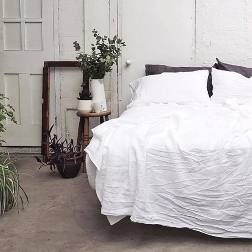 Double fitted sheet, 137 x 190cm, white