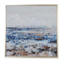 Gold framed abstract picture, 127 x 127cm