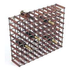 90 bottle wine rack, H81 x W100 x D23cm, dark/galvanised steel