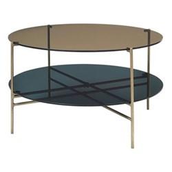 Magne Round coffee table, Dia83 x H45cm, smoke, antique brass