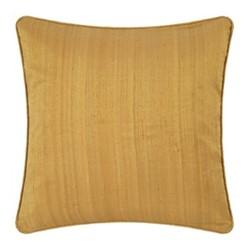 Silk cushion, 45 x 45cm, gold