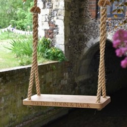 To The Moon & Back Large swing, 76 x 30 x 4.5cm, oak