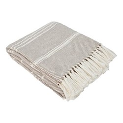 Oxford Stripe Throw, L230 x W130cm, chinchilla
