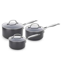 Venice Pro 3 piece saucepan set with lids, Ceramic Non-Stick