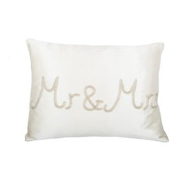 Mr & Mrs Cushion, 30 x 40cm, ivory