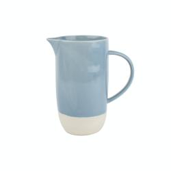 Shell Bisque Jug, 9.5 x 16.5 x 17.8cm, Blue