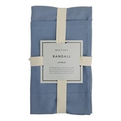 Randall Randall kitchen apron, flax blue