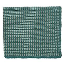 Trisara Knitted throw, L130 x W150cm, emerald