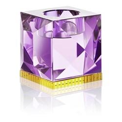 Ophelia T-light holder, L9 x H7.8 x D9cm, purple/yellow