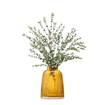 Pleat Vase, 26cm, amber