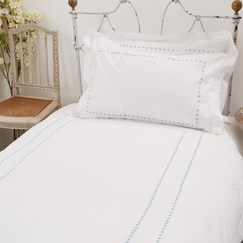 Dots Double duvet cover, 200 x 200cm, Blue 200 Thread Count Cotton